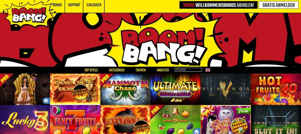 BoomBang Casinospiele