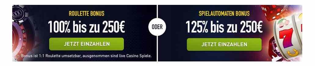 CasinoClub Online Willkommenbonus