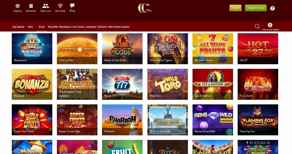 CasinoClub Slotspiele