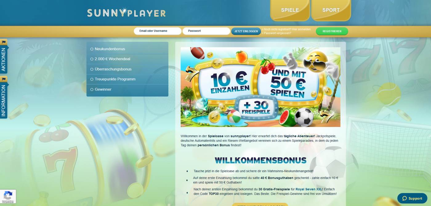 Online Casino Sunnyplayer