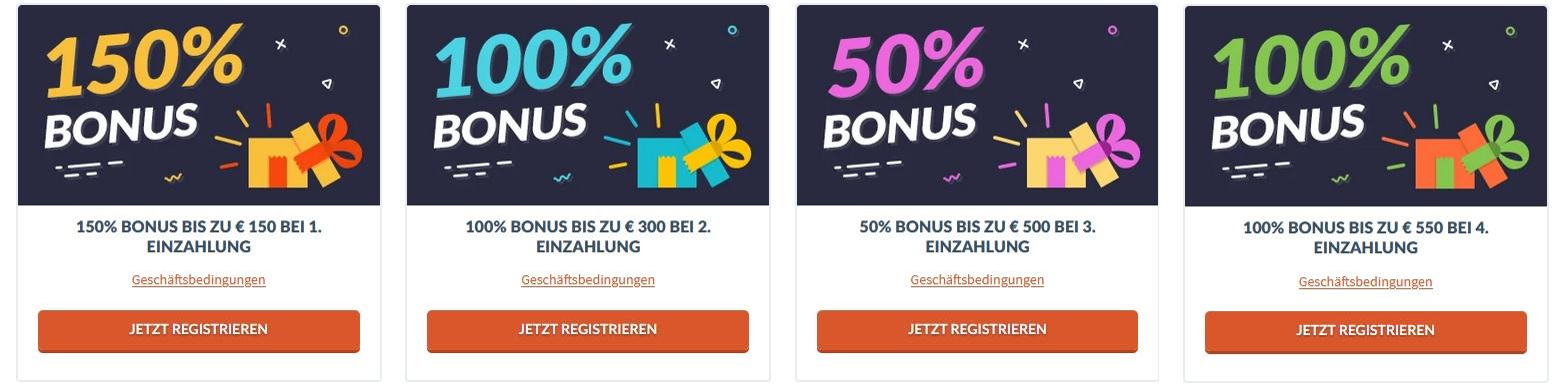 Mr Bet Willkommens-Bonus