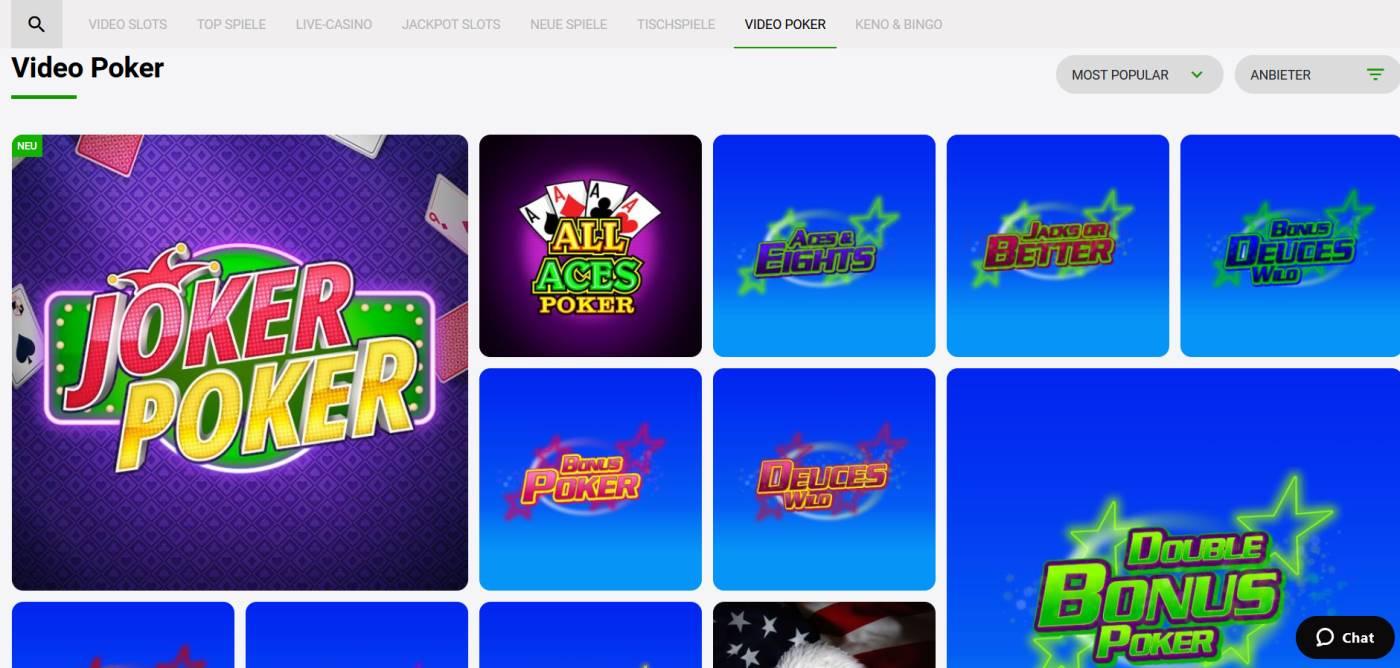 video poker zodiac bet